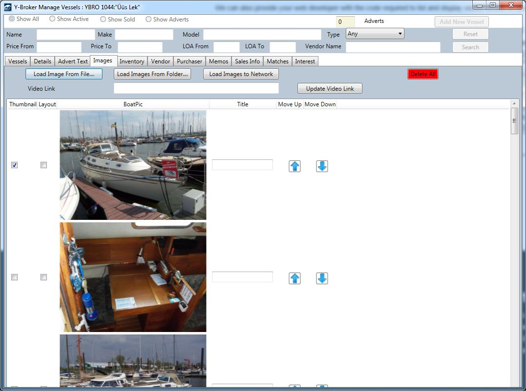 YBroker Yacht Broker CRM Software - Screen shot 5